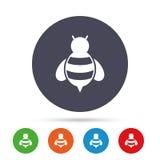 Bee sign icon. Honeybee or apis symbol. Stock Photo