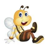 Bee sitting. On the ground vector illustration