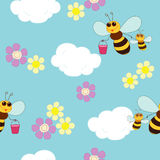 Bee in sky Royalty Free Stock Photos