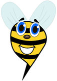 Bee smiling face Royalty Free Stock Photo