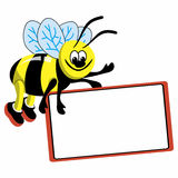 Bee with speech bubble Royalty Free Stock Photos