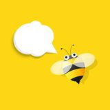 Bee with speech bubble Stock Images