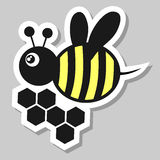 Bee sticker Royalty Free Stock Photography