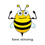 Bee strong. Funny illustration on white Stock Images