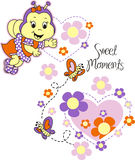 Bee Sweet Moments Stock Images
