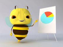 Bee with a tablet. The bee with a tablet Stock Image
