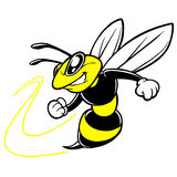 Bee Team Mascot. Cartoon illustration of a Bee Team Mascot royalty free illustration