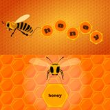 Bee and text Royalty Free Stock Photography