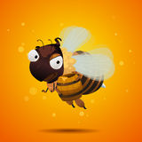 Bee thief stealing honey. Character design Stock Photo