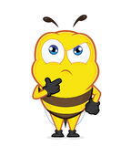Bee thinking. Clipart picture of a bee cartoon character thinking Stock Photo