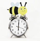 Bee on Time Royalty Free Stock Image