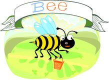 Bee with title Stock Images