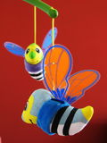 Bee toy. Smiling bee toy for baby Royalty Free Stock Photo