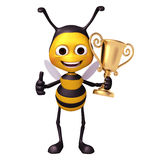 Bee with trophy Stock Images