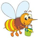 Bee (vector clip-art) Royalty Free Stock Image