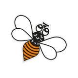 Bee. Vector illustration. Honey flying bee. Flat style vector illustration Stock Images