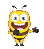 Bee in welcoming gesture. Clipart picture of a bee cartoon character in welcoming gesture Royalty Free Stock Photography