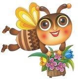 Bee With Basket Stock Photo