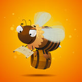 Bee worker seeking the honey. Character design Royalty Free Stock Images
