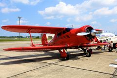 Beech D 17 S Staggerwing Royalty Free Stock Photo