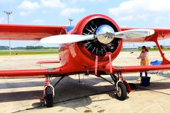 Beech D 17 S Staggerwing Stock Photography