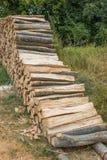 Beech timber at lumber yard Royalty Free Stock Images