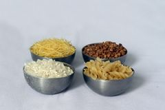 Beech wheat, rice and pasta Stock Photography