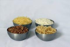 Beech wheat, rice and pasta Stock Photo
