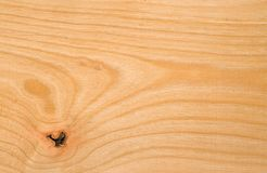 Beech wood texture. Beech tree wood texture - unpolished, with a knot royalty free stock photos