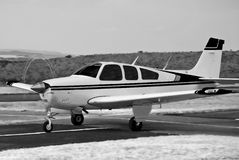 Beechcraft Bonanza - BW Royalty Free Stock Photography