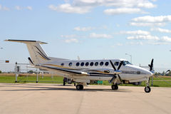 Beechcraft King Air. Executive Plane on the tarmac stock photo