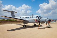 Beechcraft King Air aircraft at exhibition Stock Images