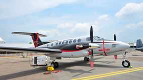 Beechcraft King Air 350ER special mission aircraft on display at Singapore Airshow Royalty Free Stock Images