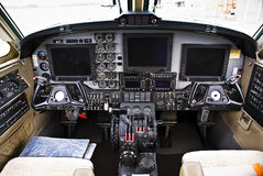 Beechcraft Super King Air B200 - Instrument Panel Stock Photography