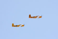 Beechcraft T-34 Mentors flying in formation Royalty Free Stock Photography
