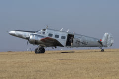 Beechcraft 18 taxing Royalty Free Stock Image