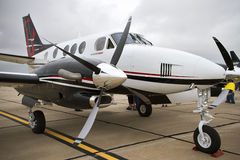 Beechcraftkoning Air Aircraft On het Tarmac stock afbeeldingen