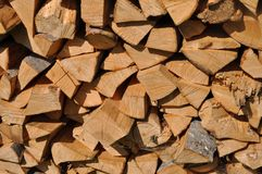 Beechen fire wood. Royalty Free Stock Photos