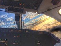 Beechjet Sky. Awesome sky through the jet windshield on a morning takeoff stock images