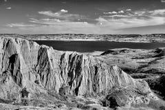 Beechy Sandcastles jezioro Diefenbaker zdjęcie stock