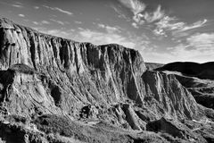 Beechy Sandcastles jezioro Diefenbaker zdjęcia royalty free