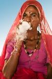 Beedi smoker lady stock photography