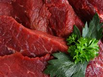 Beef. Detail raw beef meat in cuisine Stock Image