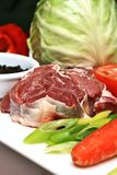 Beef. Tender beef prepared to be cooked royalty free stock photos