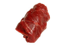 Beef. Fresh crude beef on a white background Royalty Free Stock Photos