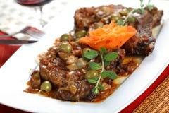 Beef with artchicokes Stock Image