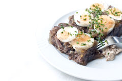 Beef aspic with eggs Stock Images