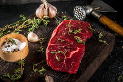 Beef with ax, thyme and spices Royalty Free Stock Images