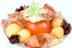 Beef, Bacon and Potatoes Royalty Free Stock Images