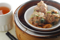 Beef ball dim sum Royalty Free Stock Images